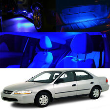 98-00 Accord Sedan BLUE Interior LED Light Bulb Xenon Full Package 6418 168 194