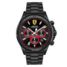 Orologio uomo cronografo Scuderia Ferrari Pilota FER0830390 acciaio IP Black