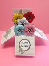 flower themed birthday /mothers day /any occasion pop up card