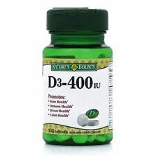 Nature's Bounty Vitamin D 400 IU Tablets 100 Tablets