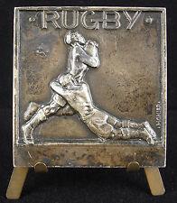 Médaille à M Mouchet 1961 Monier Sport Le Rugby et plaquage 93 g 51 mm Medal