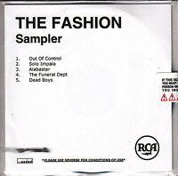 THE FASHION Sampler UK 5-trk numbered/watermarked promo test CD sealed