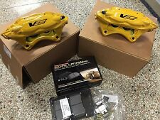 2009-12 Cadillac CTS-V Brembo Yellow 4 Piston Rear Calipers w/pads + pins ZL1