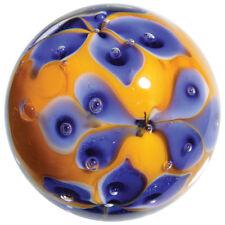 """22mm MORNING GLORY flower Handmade art glass orange Marble ball 7/8"""" SHOOTER"""