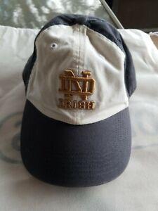 Notre Dame Fighting Irish White and Navy baseball hat