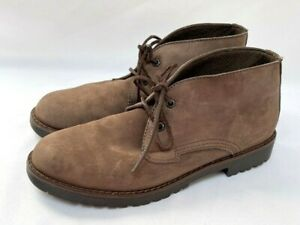 The Walker's Choice Natural Sport Women's Leather Suede Ankle Boots Size 11 M