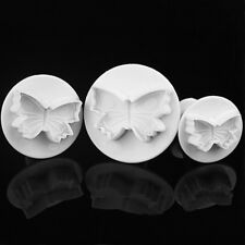 3*Sugar-craft Cake Cupcake Fondant Icing Plunger Cutters Baking Tools Decoration