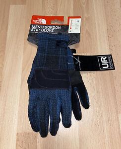 New Mens North Face Gordon Etip Glove Size Small Blue