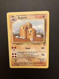 Dugtrio 23/130 RARE Base Set 2 Pokemon WOTC Non Holo