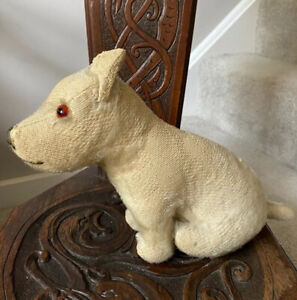 Antique Merrythought Mohair Dog Toy 1920.  Loved & Full Of Character 12 Inches