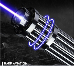 High Power Laser Pointer 500000m 500w Green Blue 450nm Flashlight Match/Burn