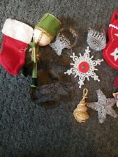 Vintage 10 Christmas Ornaments assorted