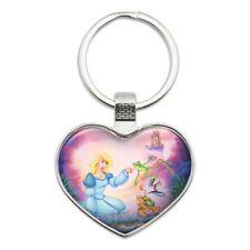 Swan Princess Odette Frog Turtle Puffin Heart Love Metal Keychain