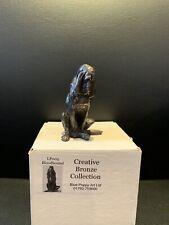 More details for creative bronze collection blue poppy art ltd lp005 bloodhound dog ornament