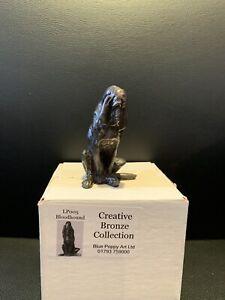 Creative Bronze Collection Blue Poppy Art Ltd LP005 Bloodhound Dog Ornament