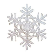 ID 8138 Snowflake Patch Christmas Winter Snow Ice Embroidered Iron On Applique