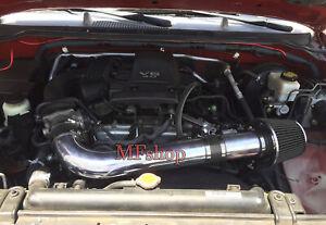 All Black For 2005-2014 Nissan Frontier Xterra 4.0L V6 Air Intake Kit + Filter