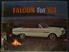 1963 Ford Falcon Brochure Futura Sedan Convertible Squire Wagon Nice Original 63
