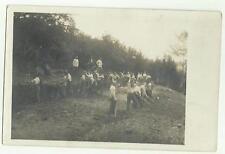 133784 antica foto cartolina militari soldati al lavoro