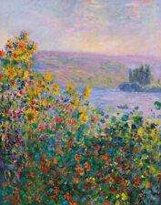 Claude Monet Flower Beds At Vetheuil Canvas Print 16 x 20      #3810