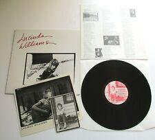 Lucinda Williams - Lucinda Williams UK 1989 Rough Trade Signed LP + Photographs