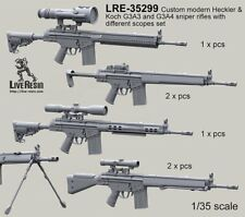 Live Resin 35299 1/35 Custom Modern G3A3 and G3A4 Sniper Rifles