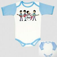 pantera cartoon BLUE baby body infant children boy toddler newborn 0-24 months