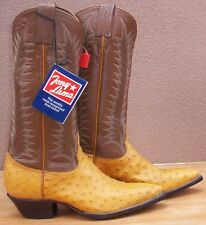 Tony Lama, Genuine Full  Quill Ostrich Skin Cowgirl Boots, Size (6 M)