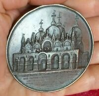 1852 Jacques Wiener Venice -Patriarchal Cathedral Basilica of Saint Mark medal
