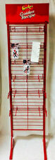 NEW USA MADE 18 peg Candy & Snack Food Retail Store Floor Display RED METAL