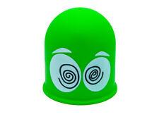 Schutzkappe Anhängerkupplung Kappe Cap Geschenk Dizzy Schwindelige Augen Grün