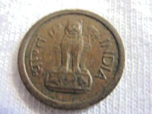 1957  INDIA COIN   1 paisa (new paisa) - ASOKA LION  Engraved ,,.#7.8/55*