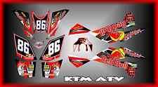 KTM XC SX 450XC 525XC 505SX5 450SX  ATV QUAD  SEMI CUSTOM GRAPHICS KIT Race
