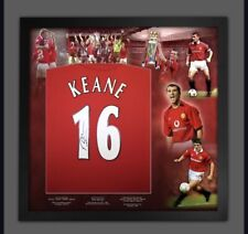 Firmado Roy Keane Manchester United Camisa en un marco de montaje cert. de autenticidad £ 299