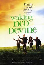 WAKING NED DEVINE (1998) ORIGINAL MOVIE POSTER  -  ROLLED  -  DOUBLE-SIDED