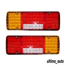 2 LED Rear Tail Lights for Truck Chassis Box Iveco Ducato Renault Peugeot VW 12V