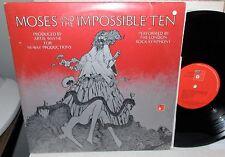 1973 MOSES & IMPOSSIBLE TEN LONDON ROCK SYMPHONY BASF 2 LP & BOOKLET LP NM-