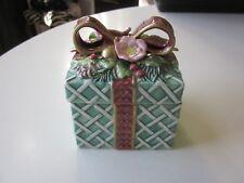 "Fitz and Floyd Ceramic ""Gift"" Trinket box"