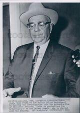 1963 Press Photo Dallas Police Captain Will Fritz Kennedy Oswald Assassination