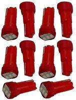 10x ampoule T5 12V 3LED SMD rouge pour tableau de bord auto voiture