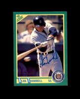 Alan Trammell Hand Signed 1990 Score Detroit Tigers Autograph