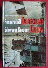 """""""PANZERSCHIFF DEUTSCHLAND~SCHWERER KREUZER LÜTZOW""""-H.G. PRAGER-KRIEGSMARINE-WW 2"""