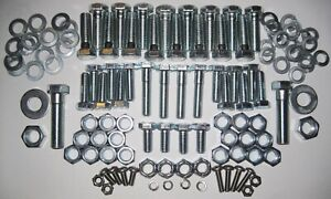 MGB Front Suspension bolts, nuts, washers fitting kit - Hi-tensile Steel.