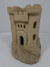 "Sand Castle Sculpture 6 1/4"""" Vintage Home Decor Paperweight Candle Holder"