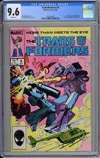 Transformers #7 CGC 9.6 NM+ Wp 1st Josie Beller (Circuit Breaker) Marvel 1985