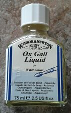 Winsor & Newton Ox Gall Liquid Water Colour 75ml Vintage Bottle