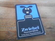 Sach Zwiebel - Almanach 1983/84 (96pg) VLG KLAUS WAGENBACH TB