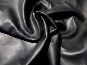 deerskin leather hide XL New Zealand Deer Black Semi Gloss Finish Thick & Soft