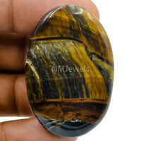Cts. 79.40 Natural Chatoyant Multi Blue Tiger Eye Cabochon Oval Cab Gemstone
