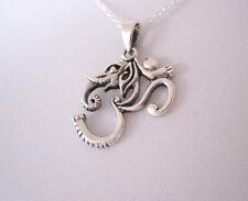 925 Sterling Silver ELEPHANT GANESH OHM AUM OM BUDDHA pendant